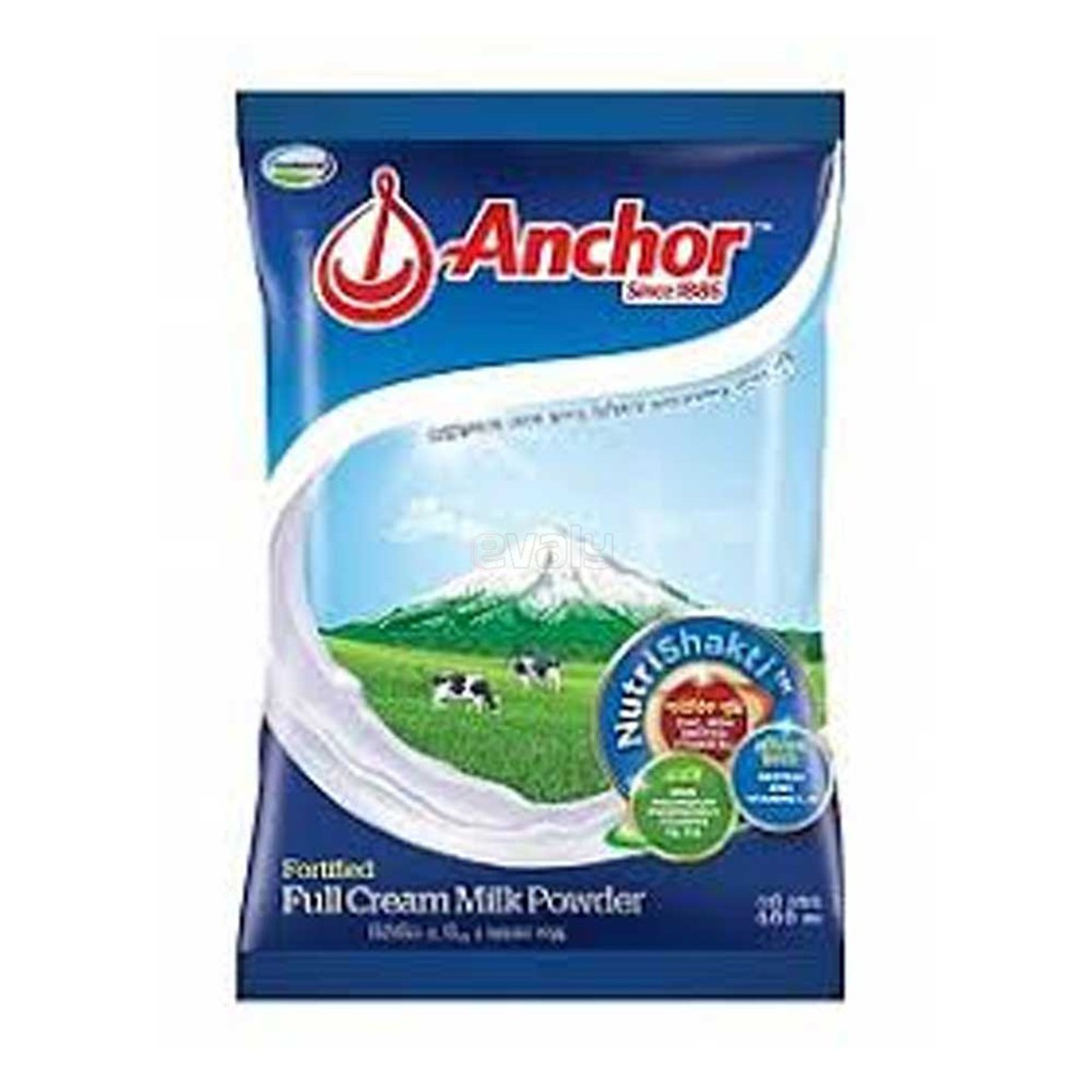 Anchor Fortified Instted Full Cream Milk Powder Box  Poly (500gm) - Bponi