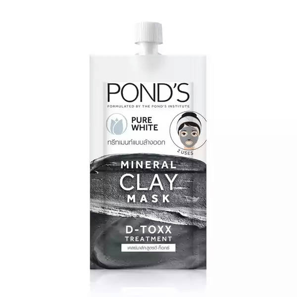 Bponi   Pond's Mineral Clay Mask Pure White D-Toxx