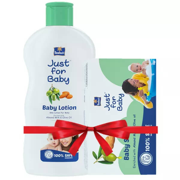 Bponi - Parachute Just For Baby Baby Lotion 100 ml & Baby Soap 75 gm Combo Offer