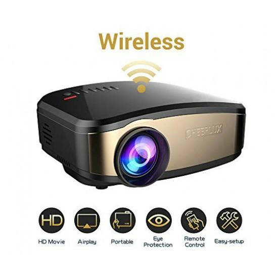 C6 Mini Android 4.4 OS Pico Projector 1200 Lumens 800x840DPI 1080P 2.4GHz WiFi Home Cinema Media Plauer Proyector Support DLNA - Bponi