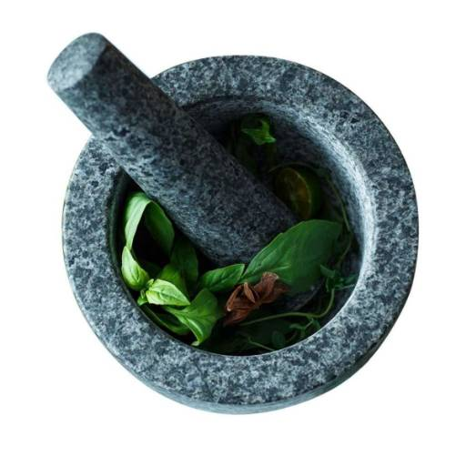 Mortar And Pestle Set, Home Grinding Garlic Kitchen Grinder Spices,Suitable For Dry And Liquid Ingredients - Bponi