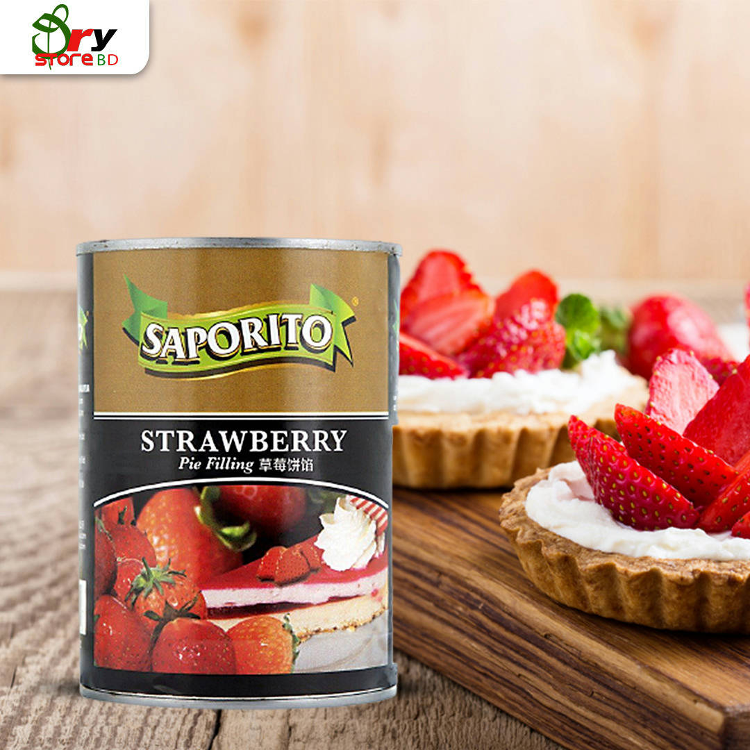 Saporito Strawberry Pie Filling - 595g. - Bponi