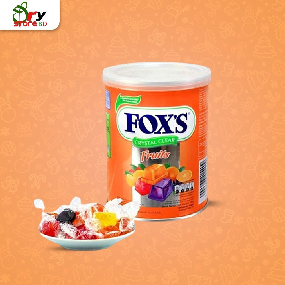 FOX'S Crystal Clear Fruits Candy-180g - Bponi