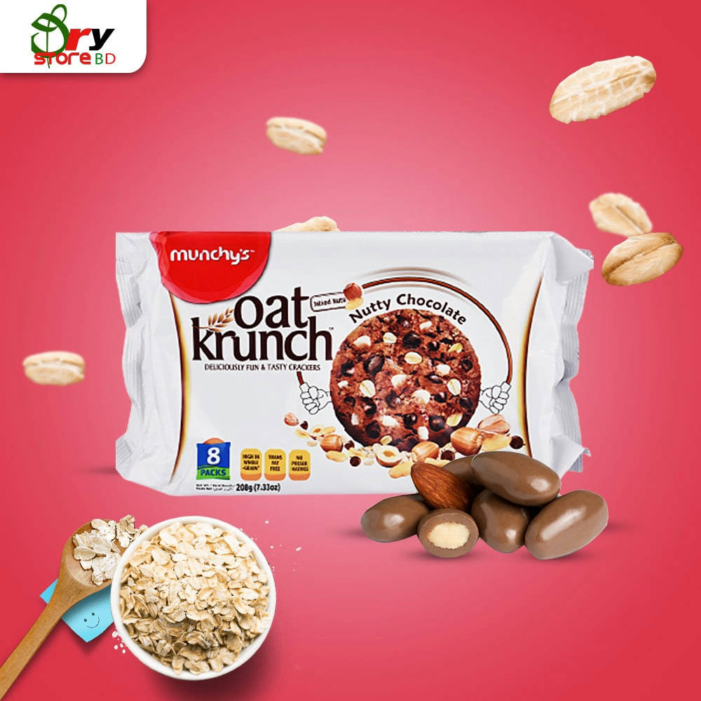 Munchy's Oat Krunch Nutty Chocolate 208g - Bponi