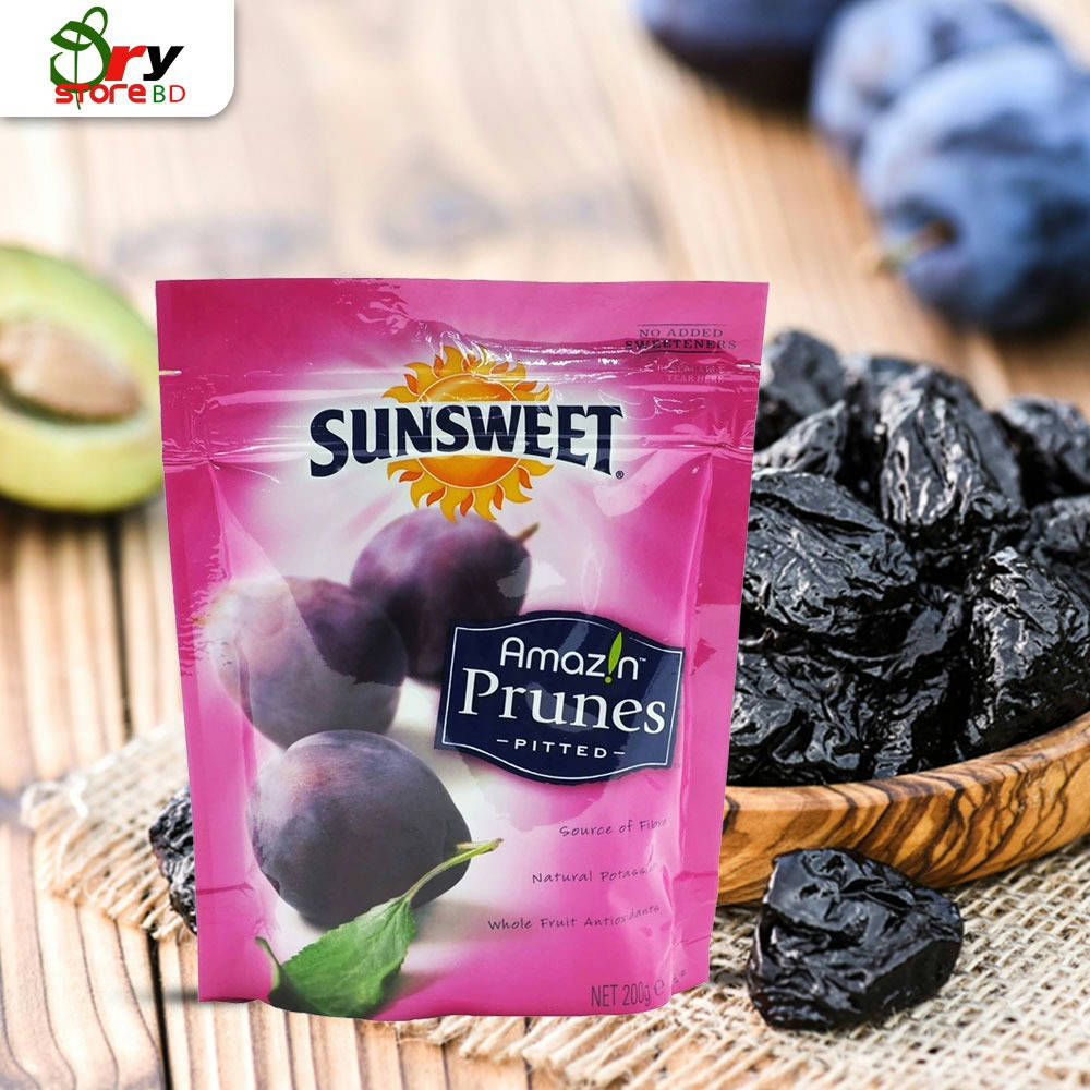 Sunsweet Amazin Prunes Pitted - 200 gm. - Bponi