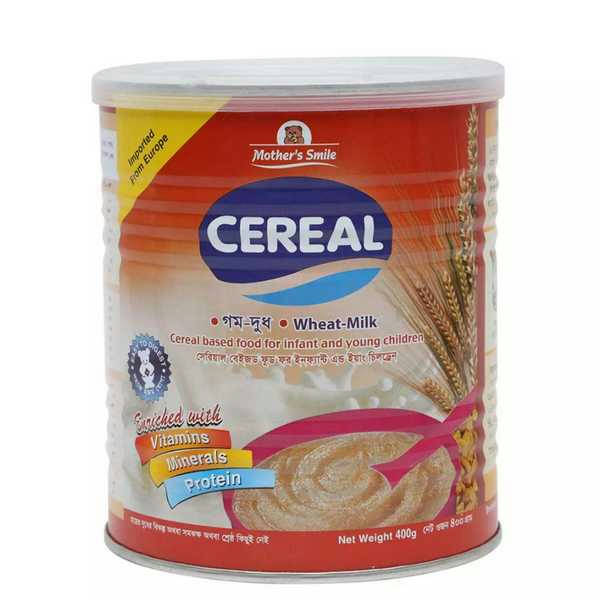 Bponi | Mother's Smile Cereal Wheat Milk 400 gm
