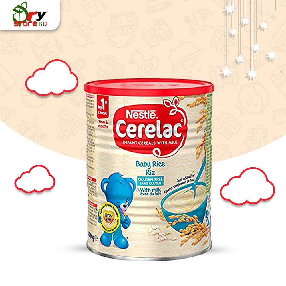 CERELAC Rice with Milk Infant Cereal 6m+ 400gm - Bponi