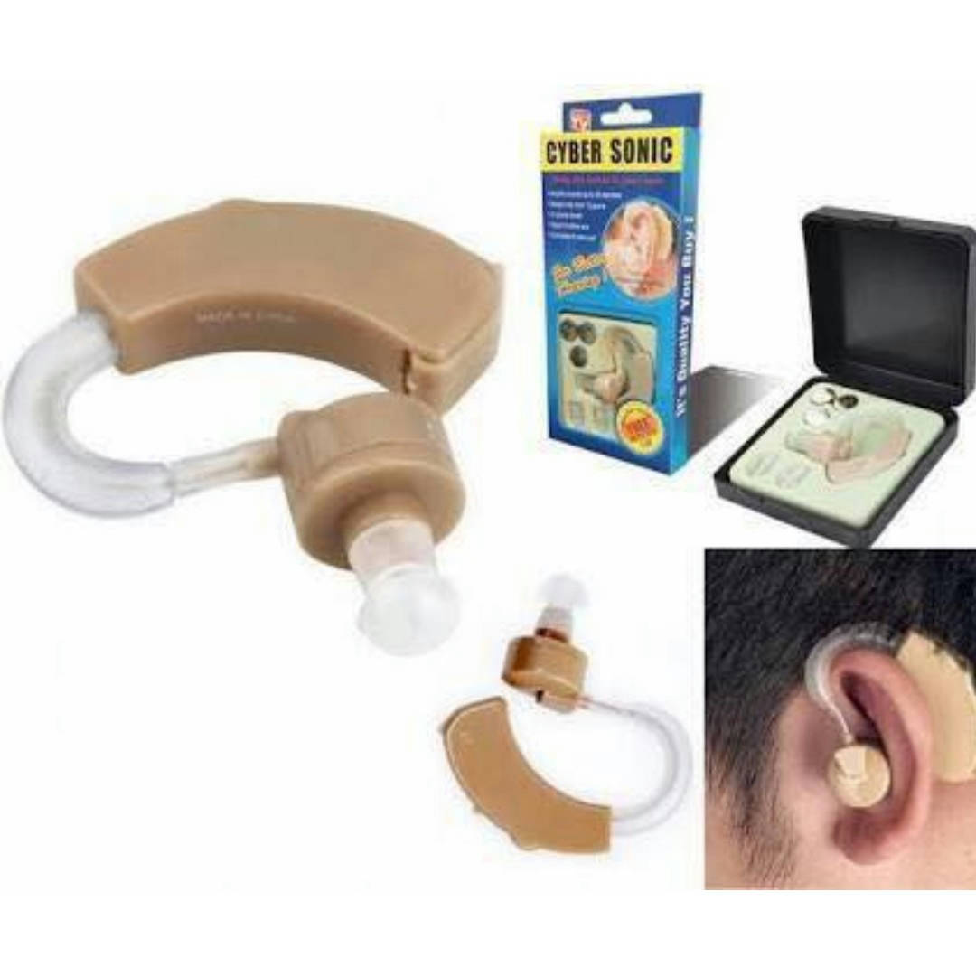 Original New Best Quality Cyber Sonic Hearing Aid Adjustable Hearing Assistance Aid Kit - Bponi