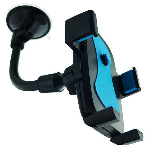 Car Mount Soft Tube Holder - Black - Bponi