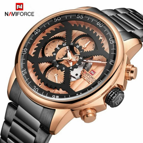 Bponi - NAVIFORCE NF9150 Stainless Steel Chronograph Watch for Men