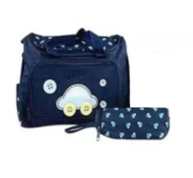 Baby Diaper Bag - 2pcs - Navy Blue - Orf - Bponi