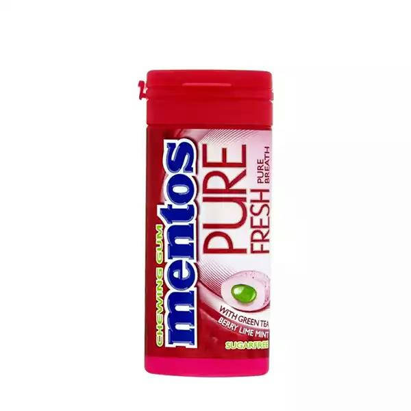 Bponi | Mentos Pure Fresh Chewing Sugarfree Gum (Green Tea Berry Lime Mint)