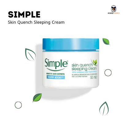 Bponi - SIMPLE Water Boost Skin Quench Sleeping Cream
