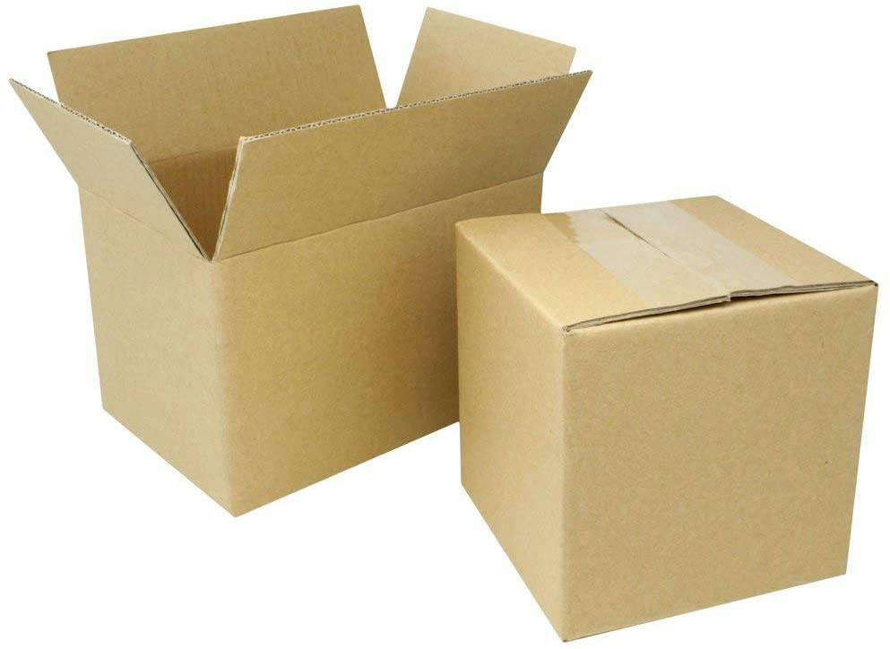 Bponi - 3ply 4x4x4 Corrugated Cardboard Shipping Boxes Mailing Moving Packing Carton Box 4 x 4 x 6 inches