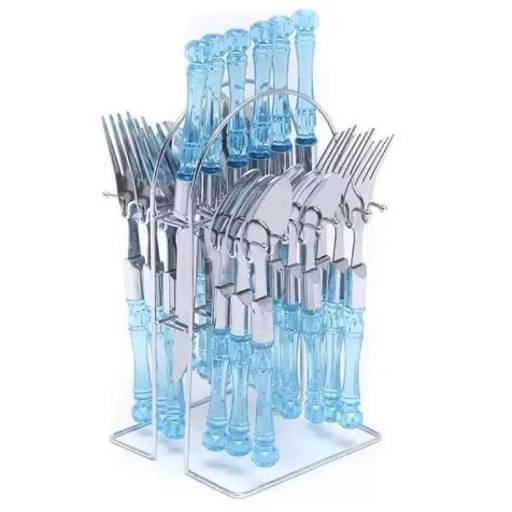 24 Pcs Dinner Fork Spoon Knife Cutlery Set - Bss - Bponi