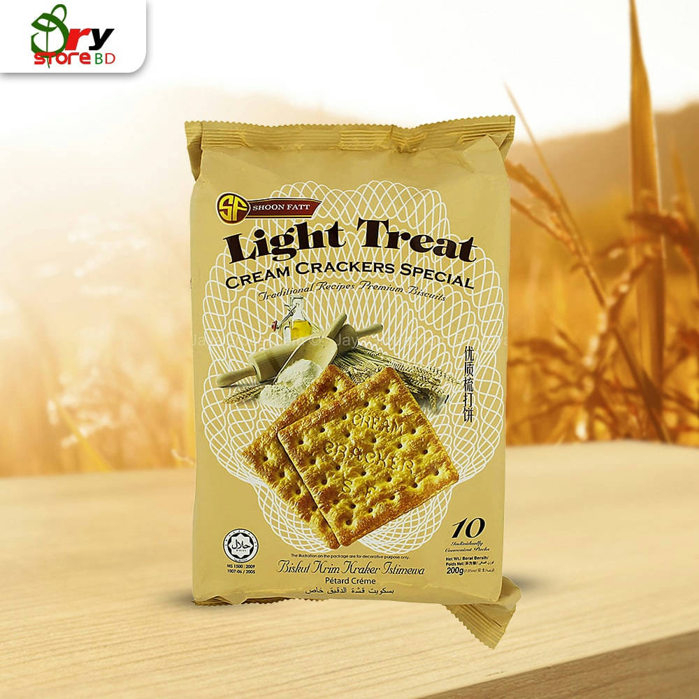 Shoon Fatt Light Treat Cream Crackers Special 200g - Bponi