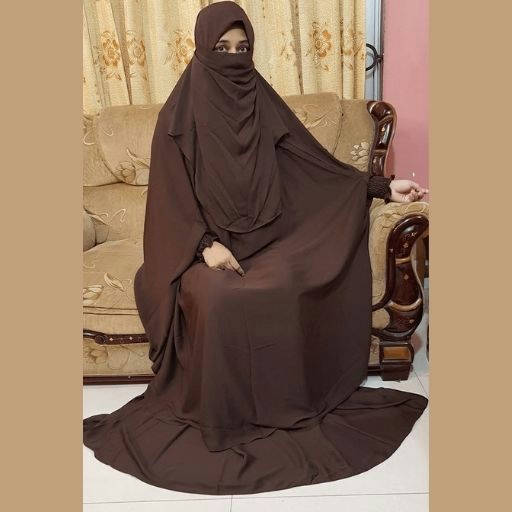 Product details of Khimar adjusted niqab hijab with iscart full set - Bponi