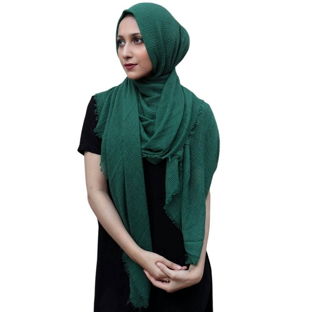 Crinkle Hijab For Women Multi-color - Bponi