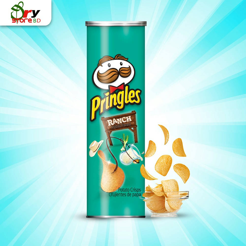 Pringles Potato Chips Ranch-158g. - Bponi
