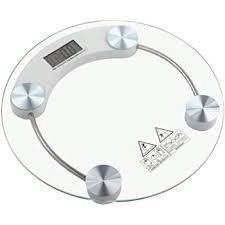 RTB Electronic Thick Tempered Glass and LCD Display Digital Personal Bathroom Health Body Weighing Scales for Human Body (Round-Shape) - Bponi