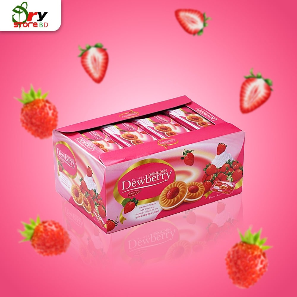 DEWBERRY Strawberry Cookies 36G.X12 - Bponi