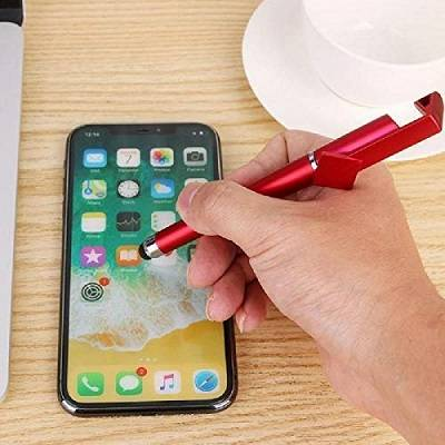 Universal 3 in 1 Touch Screen Stylus Pen with Mobile Stand - Bponi