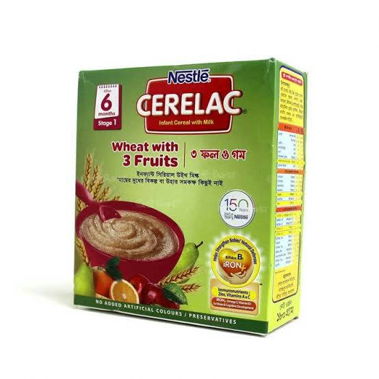 CERELAC STAGE 1 WHEAT WITH 3 FRUITS 180 GM - Bponi