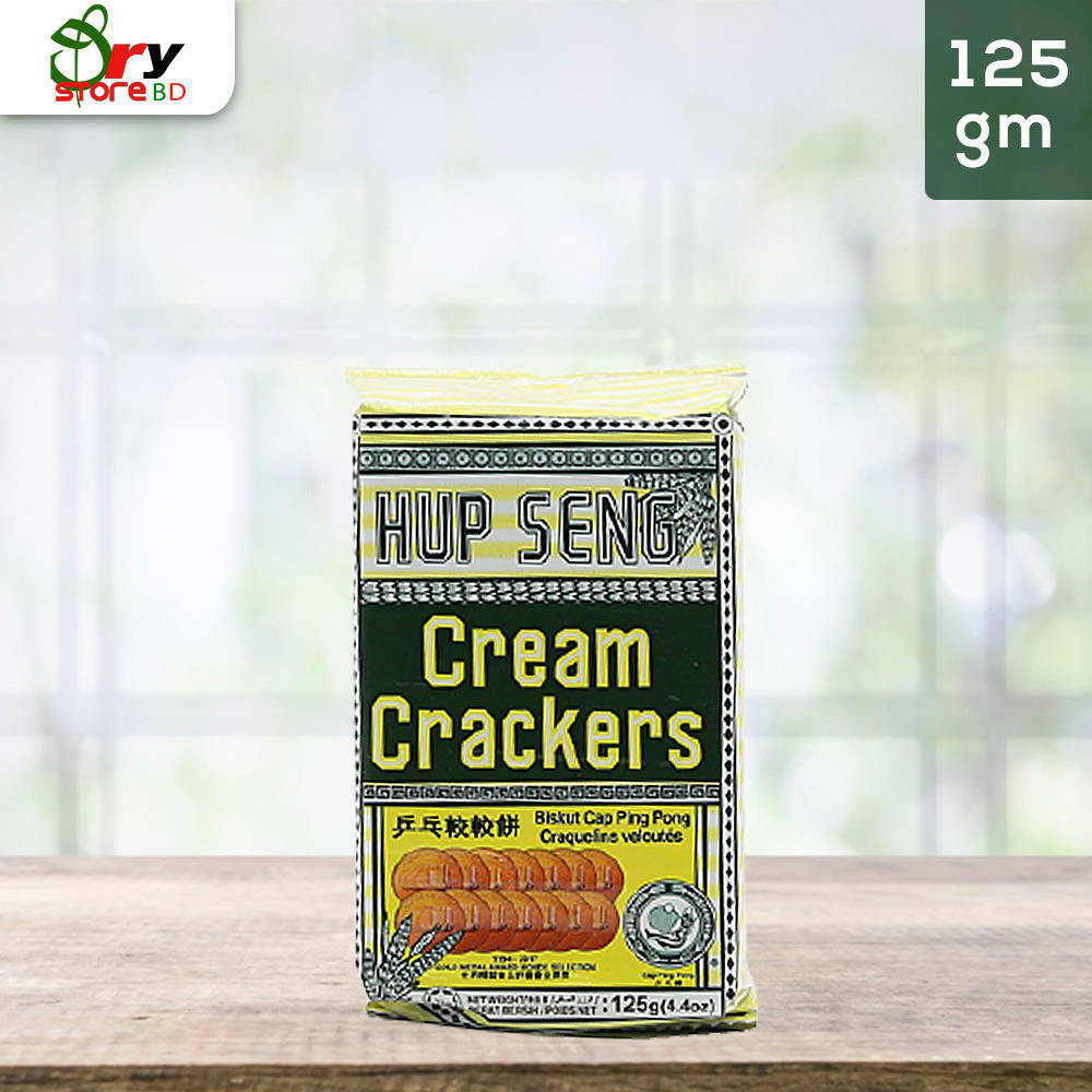 Hup Seng Cream Crackers Biscuits - 125g. - Bponi