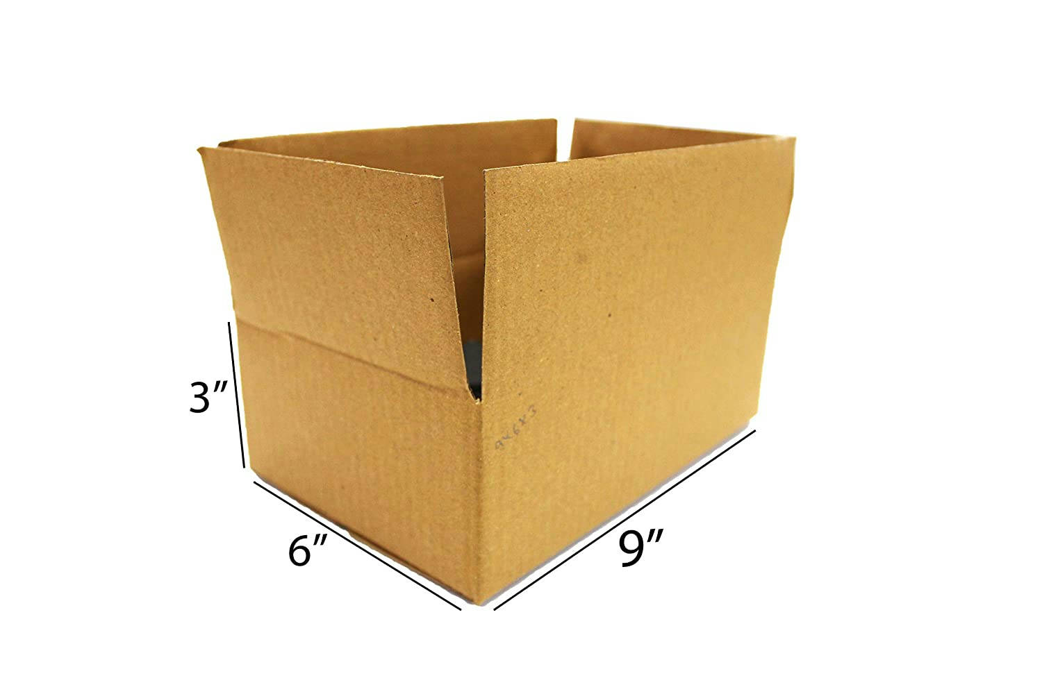 Bponi | Brown Packaging Corrugated box 9 x 6 x 3 inch 3 Ply Pack  carton