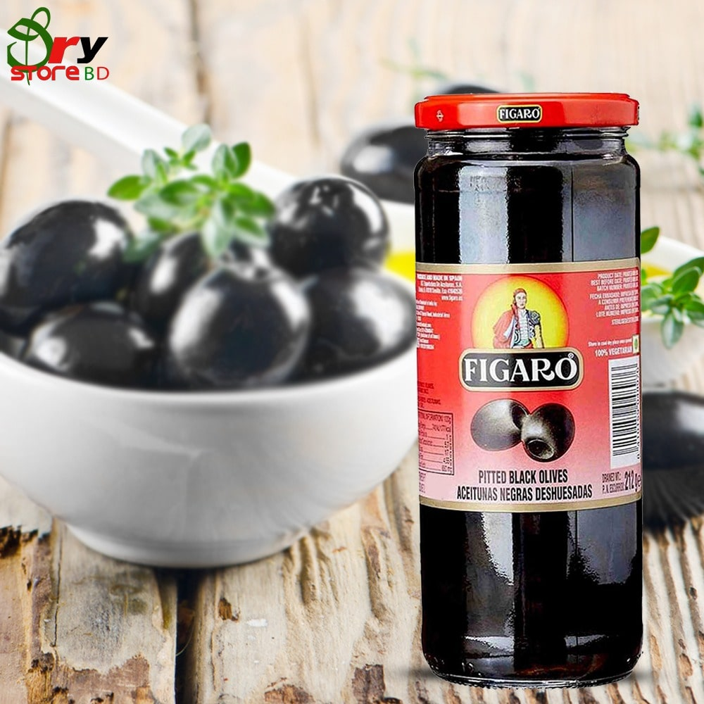 Figaro Pitted Black Olive-340gm - Bponi