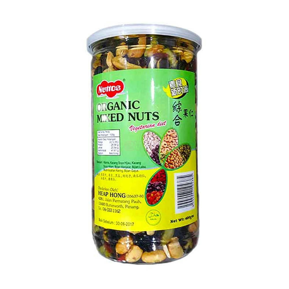 Bponi - Nuttos Organic Mixed Nuts 400g