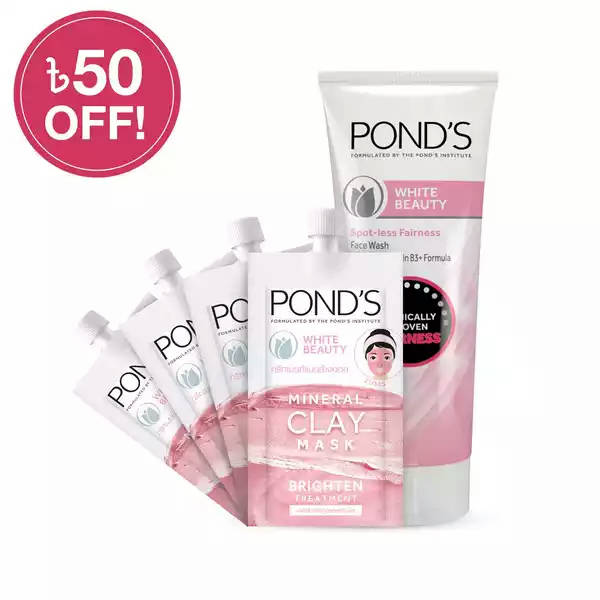 Bponi   Ponds White Beauty Clay Mask Combo Pack