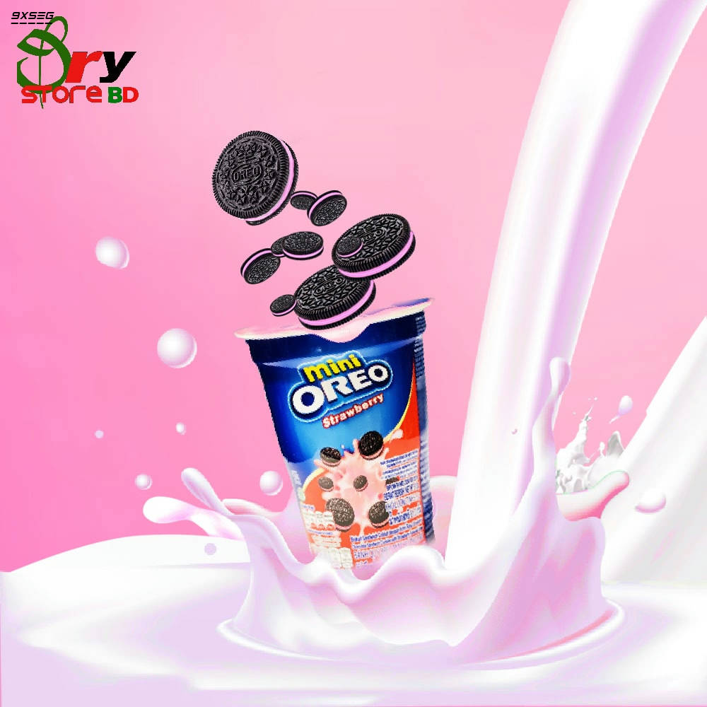 Bponi   Mini Oreo Strawberry Flavor Cup Biscuit
