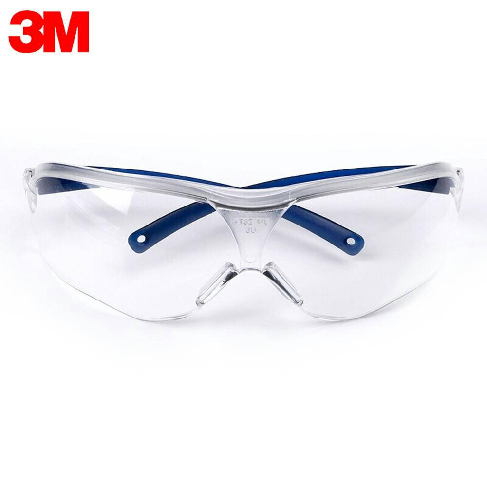 Bponi - 3M / 10434 Safety Glasses Cycling Goggles Eyewear Anti Dust Windproof UV Protection Anti Fog Coating Eye Wear with Clear Lens for Eye Protection