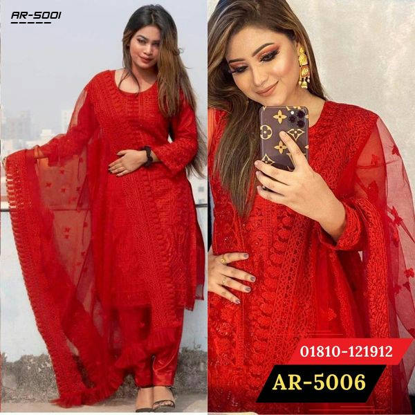 Bponi | Gorgeous Party Wear Dress Red