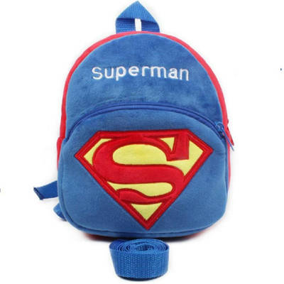 Bponi | Soft Plush Cute Superman Toddler Backpack/ School Bag For Kid – Adorable, Huggable Toys And Gifts - Wat
