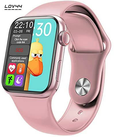 Bponi   Pink Color HW12 Smartwatch With Bluetooth call Music and Heart Rate Monitoring