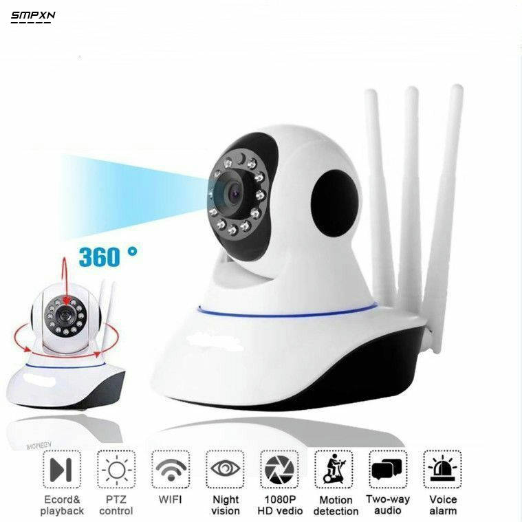 Bponi | 3 Antenna Ip Camera Wifi Monitor Two-Way Audio / Night Vision