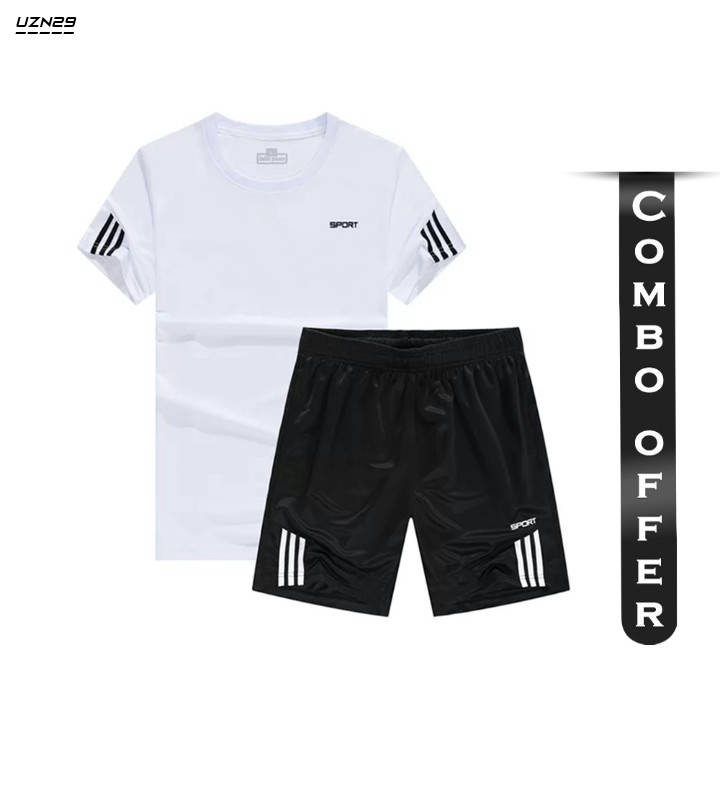 Bponi   Combo of Polyester Jersey and Shorts for Men