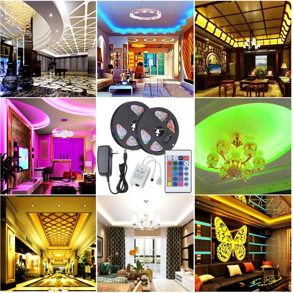 Bponi | LED Strip Light Remote Control Colour Changing Light with Sticker, LED Strip Lights For Bedroom, Home, Kitchen Cabinet, Shop, Hotel, Showroom, Office & Party Decoration