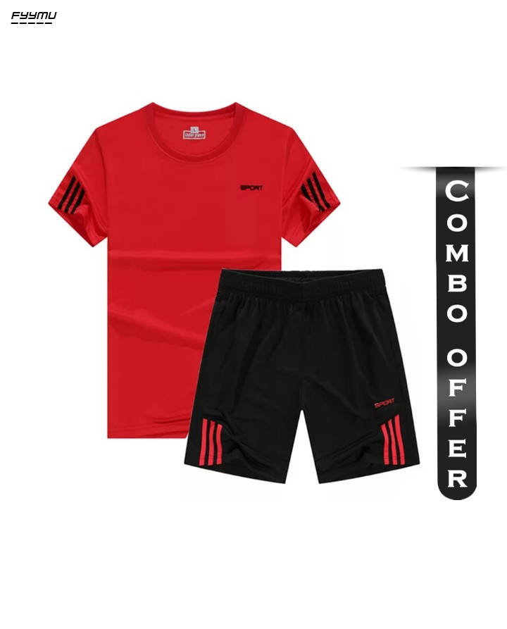 Bponi | Combo of Polyester Jersey and Shorts for Men