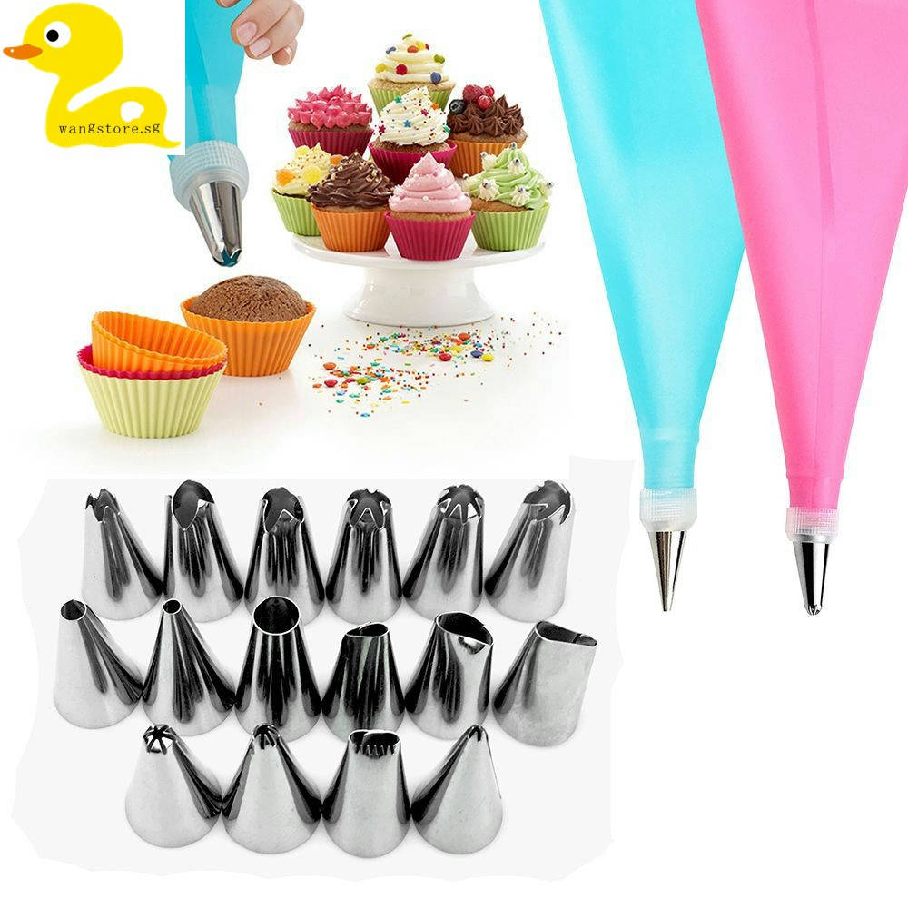 Bponi   Stainless Steel 12 Pieces Cake Decorating Tools - Silver