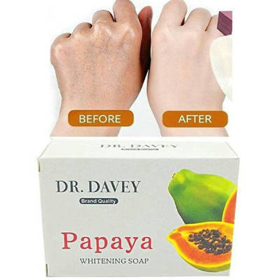 Bponi - Dr.Davey Papaya Soap Body Beauty Healthy Care Clear Tight Lock Water Oil Control Deep Whitening Soap - 135gm