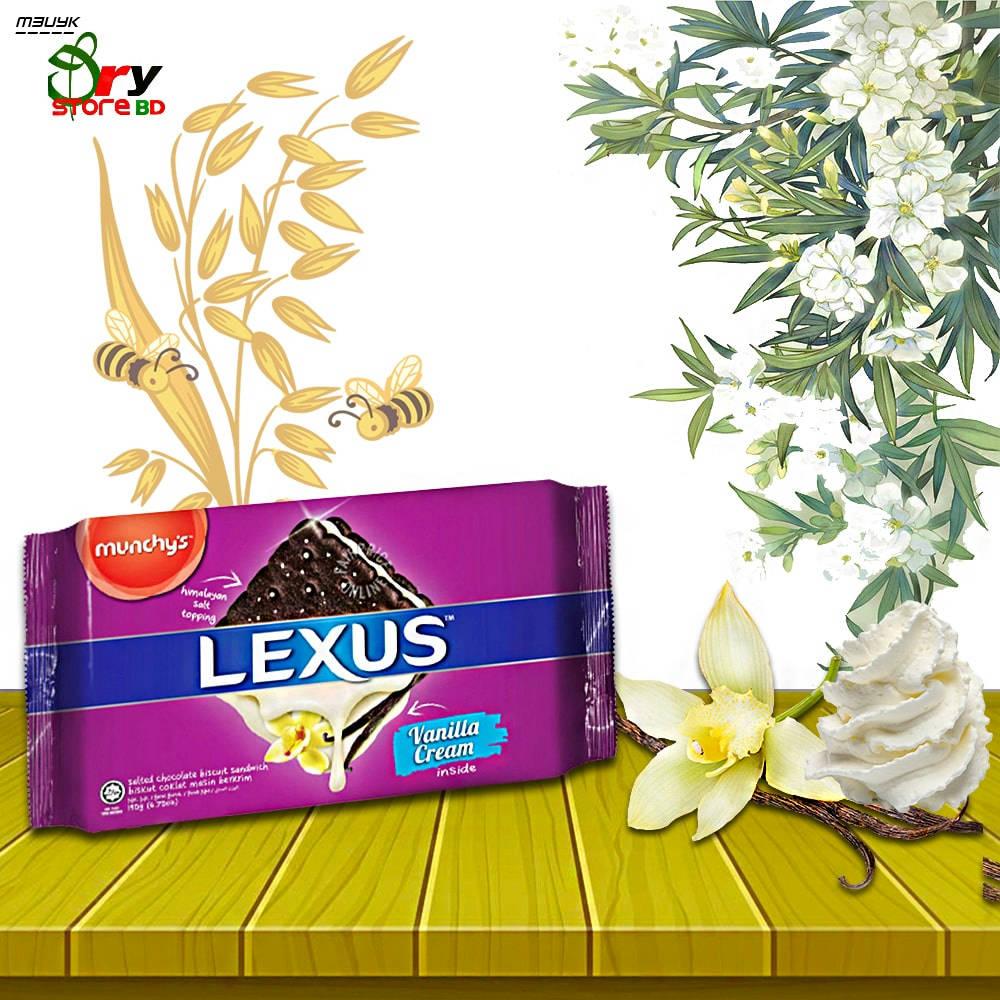 Bponi   Munchy's Lexus Vanilla Cream Salted Chocolate Biscuit Sandwich