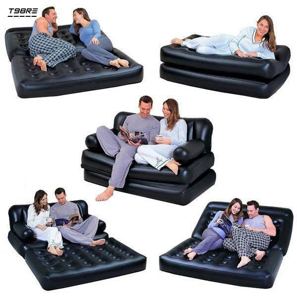 Bponi | 5 In 1 Air Sofa Bed - Black