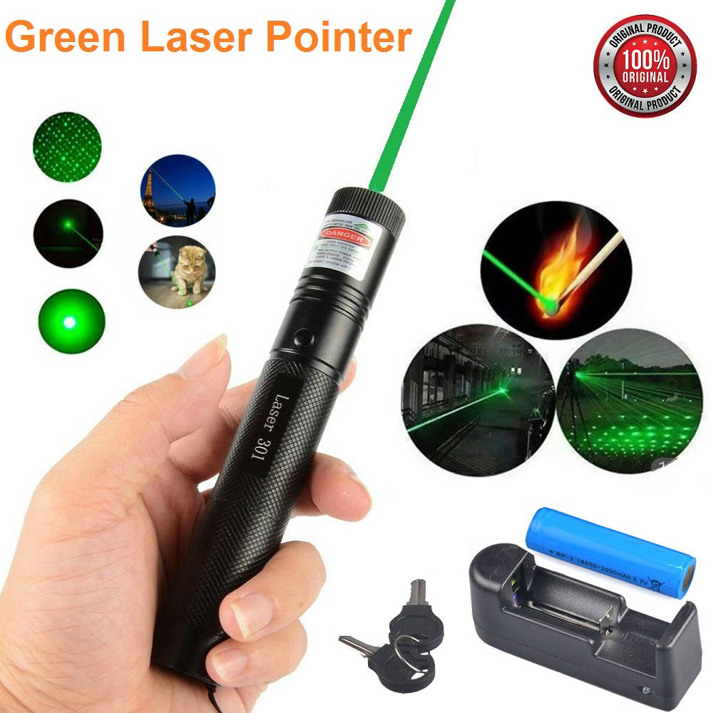 Bponi - Rechargeable Green Laser Pointer Jd-303