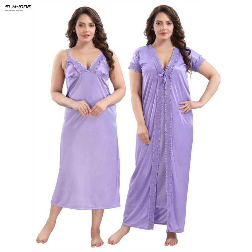 Bponi | Exclusive, Fashionable, Stylish and Comfortable Night Dress (2 Part) Long For Woman