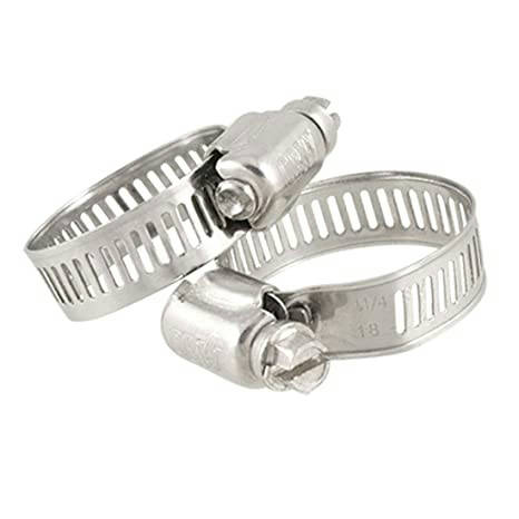 Bponi   2Pcs Stainless Steel 3/4 Hose Clamp, Stainless Steel Gas Pipe Fitting Hose Clamp