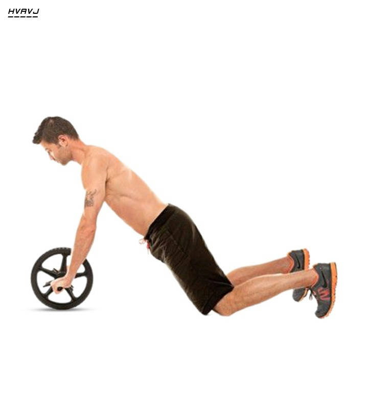 Bponi | Double Wheel AB Roller for Abs Workout Equipment - Black