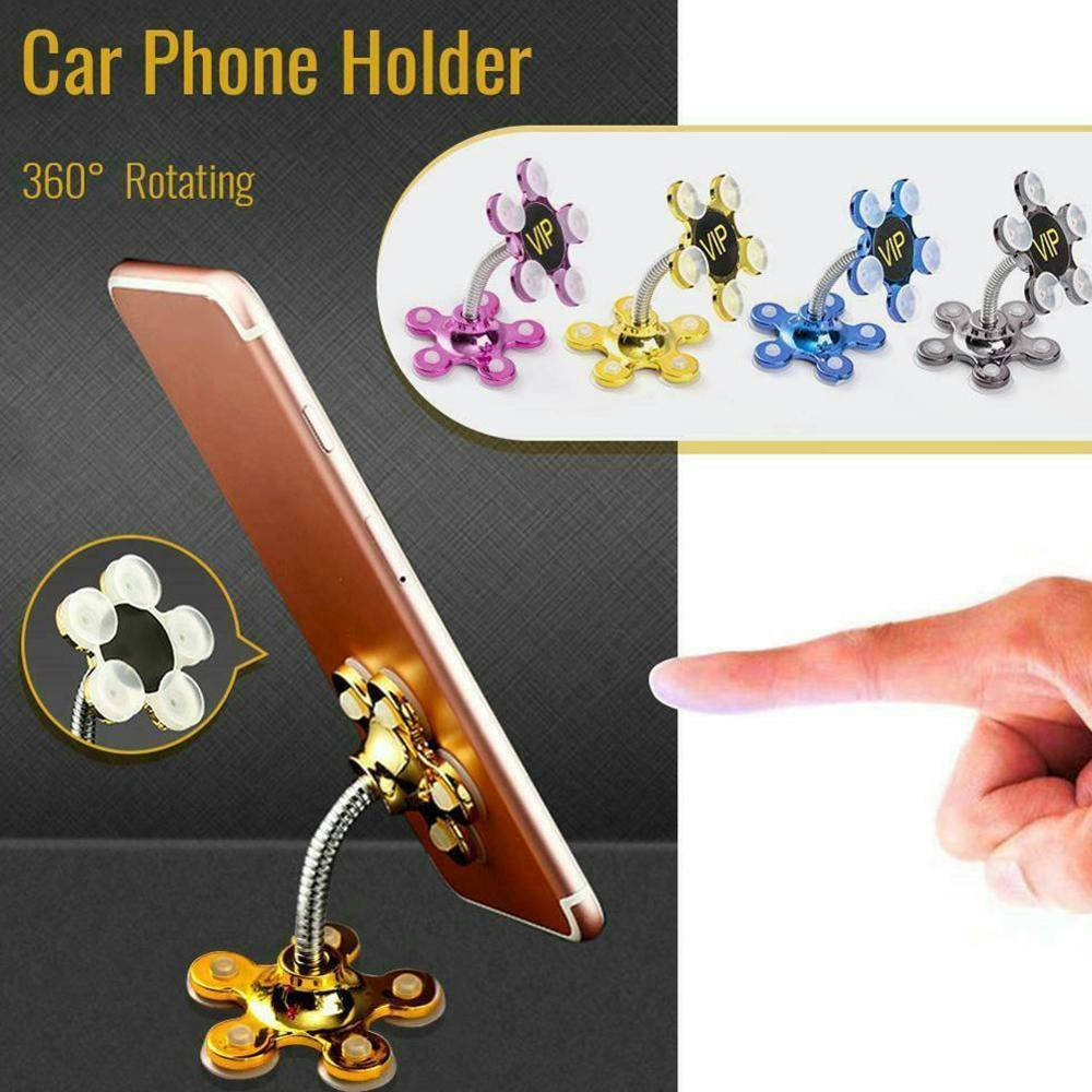 Bponi | VIP Suction Magic Mobile Stand Pocket Size, 360 Degree Metal Flower Magic Suction Cup Mobile Phone Holder,